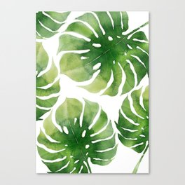 Monstera watercolor I Canvas Print