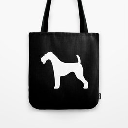 Airedale Terrier black and white minimal dogs dog silhouette art Tote Bag
