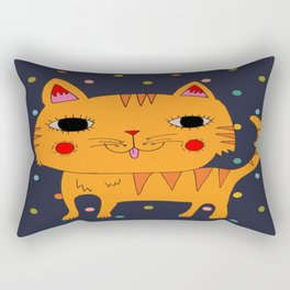 Orange Cat Rectangular Pillow