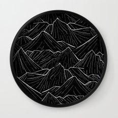 The Dark Mountains Wall Clock