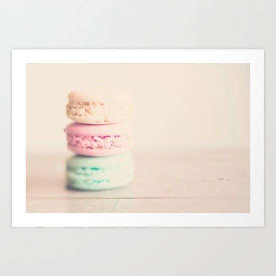 the sweet sweet macaron ... Art Print