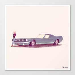 G'mas and their Hotrods Series, no.03 Ford Mustang Fastback Canvas Print