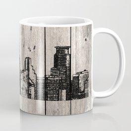 Minneapolis, Minnesota Skyline on Wood Coffee Mug