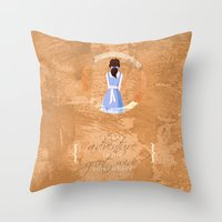 belle Throw Pillows featuring Belle by Camilla Kipp