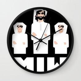 Men in White Wall Clock