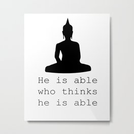 Inspirational Quote Buddha Quote Buddha Printable Buddha Wall Art Wisdom Quote Typography Print Art Metal Print