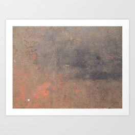 The texture of the metal sheet and coating Art Print