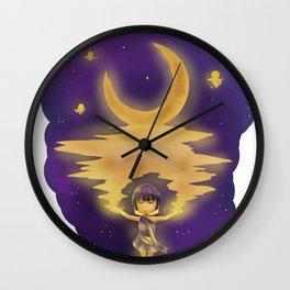 Shining moon. Wall Clock