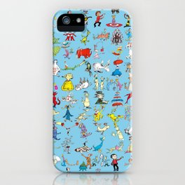 Dr. Seuss Characters iPhone Case