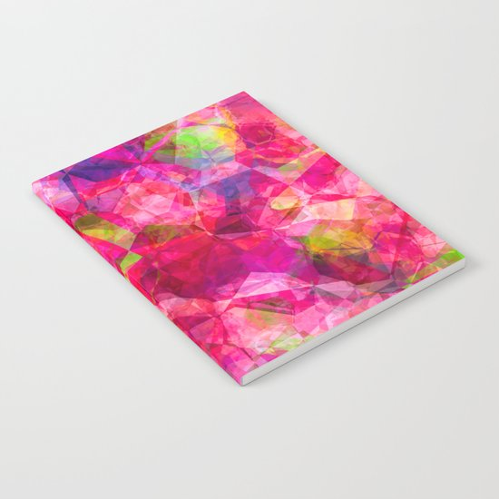 Rose triangles - Pink triangle watercolor pattern Notebook