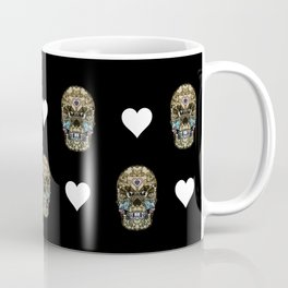 Say It with Skull and Hearts Coffee Mug
