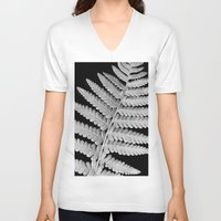 fern V-neck T-shirts featuring Fern by Brian Raggatt