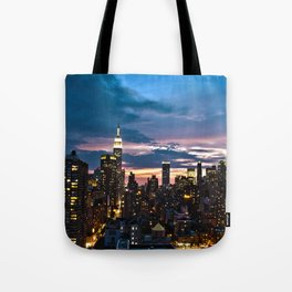 New York City By Night Tote Bag