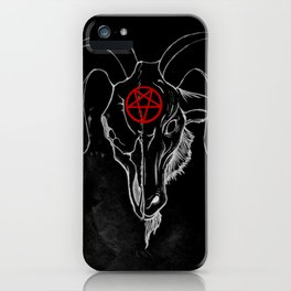 Head of Baphomet (with Sigil) iPhone Case