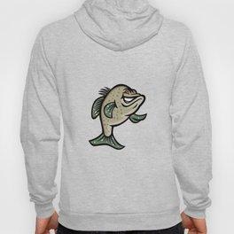 Crappie Fish Standing Mascot Hoody
