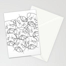 pug lump Stationery Cards