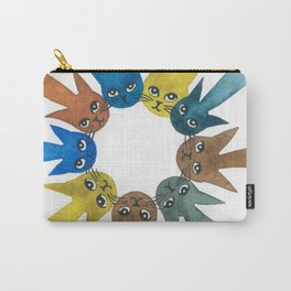 Rouen Whimsical Cats Carry-All Pouch