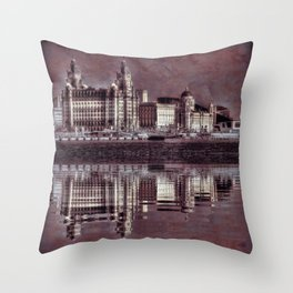 thee graces reflected Throw Pillow