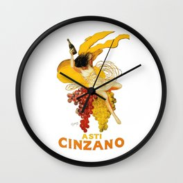 Vintage Asti Cinzano Poster by Leonetto Cappiello Beverage Champagne Drink Artwork for Prints Poster Wall Clock