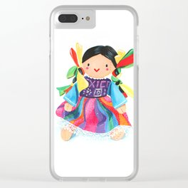 Little Mexican Doll Clear iPhone Case