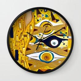 Ode to Klimt - Detail Portrait of Adele Wall Clock