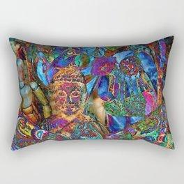 Psychedelic Buddha Rectangular Pillow