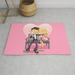 Valentine Couple Rug