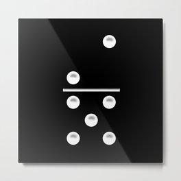 Black Domino / Domino Negro Metal Print
