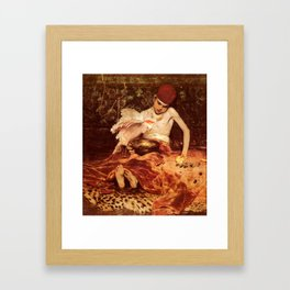 Unexpected Intrusion ,William Merritt Chase Framed Art Print