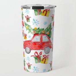 Christmas Red Car Travel Mug