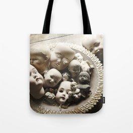 Rucus Studio Antique Doll Heads Tote Bag