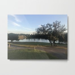 Peace at a Lake Metal Print