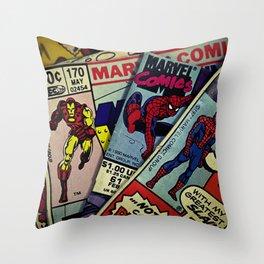 close up comics Throw Pillow