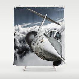 F-104 Starfighter Shower Curtain