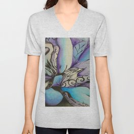 Billow Waves Unisex V-Neck