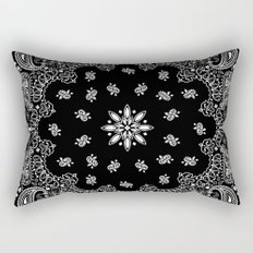 black and white bandana Rectangular Pillow