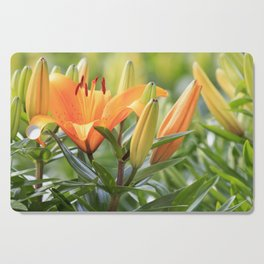 Orange Lily Cutting Board