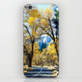 Yosemite Road in the Fall iPhone Skin