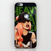 heavy metal iPhone & iPod Skins featuring Heavy Metal Lover by Helen Green