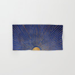 Twilight / Blue and Metallic Gold Palette Hand & Bath Towel