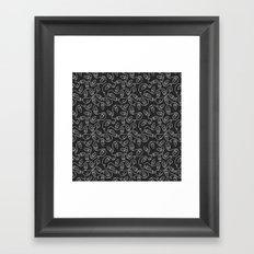 Seamless Christmas Lights (Slate) Framed Art Print
