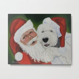 Santa's Helper Metal Print