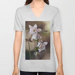 White columbine flowers Unisex V-Neck