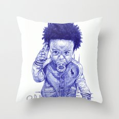 Afro Kid Throw Pillow