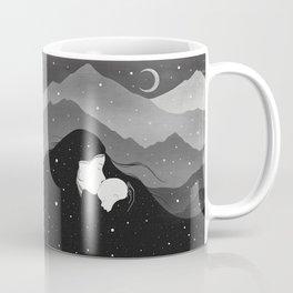 Mountain's Lullaby - Black & White Coffee Mug