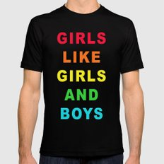 Girls/Girls/Boys Mens Fitted Tee Black X-LARGE
