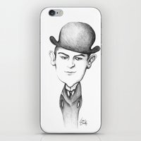 kafka iPhone & iPod Skins featuring Kafka by Liliana Ostrovsky