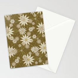 Vintage White Flowers Stationery Cards