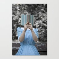 reading Canvas Prints featuring Reading by Maria Heyens