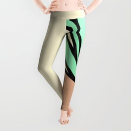 Potted Plant Drawing Leggings